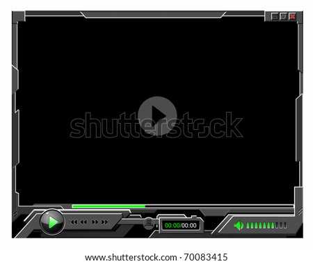 player skin - stock vector