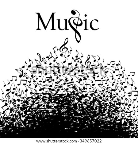 Playful typographic fun in this whimsical music graphic - stock vector