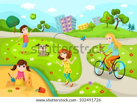 playground - stock vector