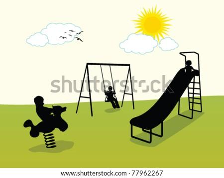 playground - stock vector