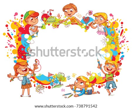 children paint abstract abstract color splash template for advertising brochure ready for - Pictures To Paint For Children
