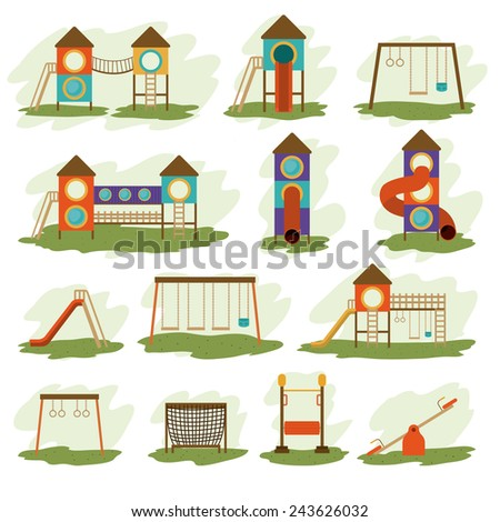Playground design over white background, vector illustration. - stock vector