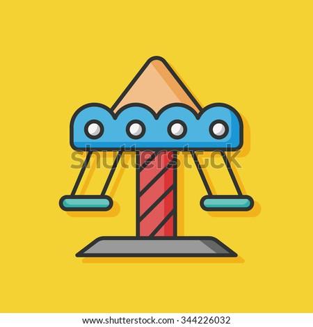 playground merry-go-round icon - stock vector