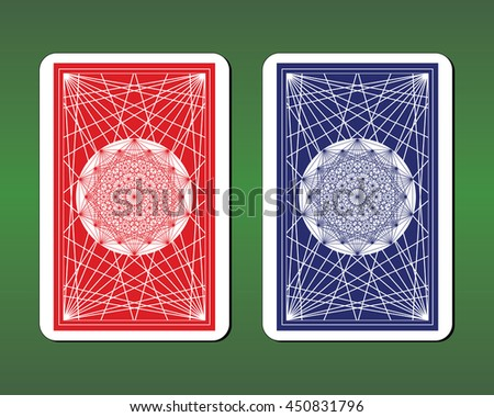 Playing Card Back Designs - stock vector