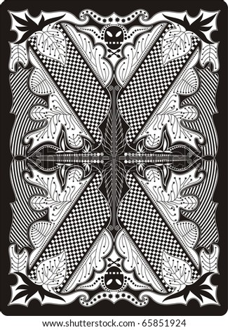 playing card back side 65x90 mm - stock vector