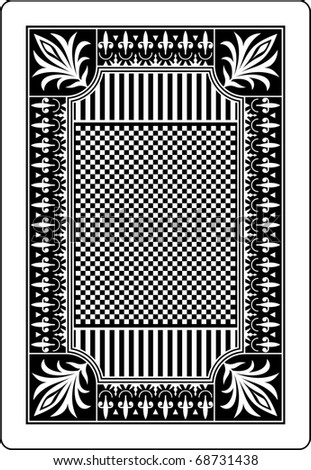 playing card back side 62x90 mm - stock vector