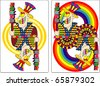 playing card joker 60x90 mm - stock vector