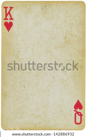 Playing Card - Mixed in with King of Hearts and Queen of Hearts - stock vector