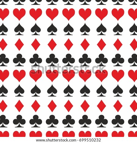 playing card set symbol clubs hearts spades diamonds background
