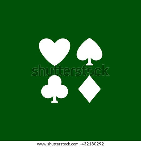 Playing Card Symbols Icon Playing Card Stock Vector 432180292