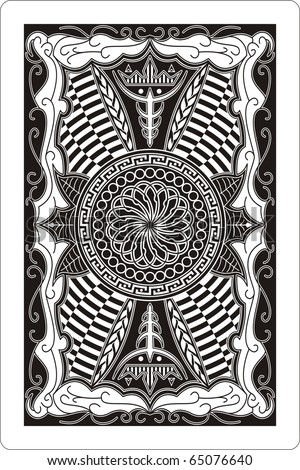 playing card 60x90 mm back side - stock vector