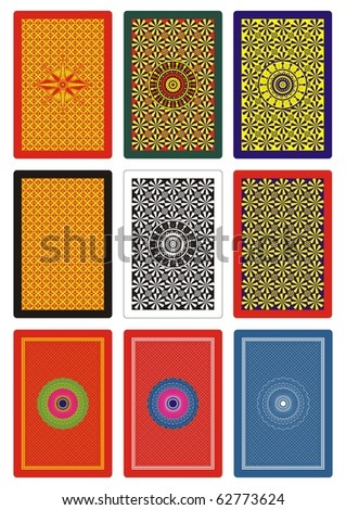 playing cards back side - stock vector