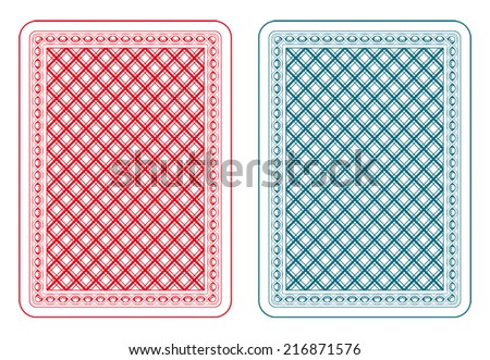 Playing cards back two colors - stock vector