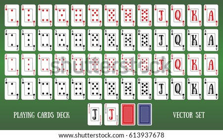 Deck of cards of poker wsop poker video game