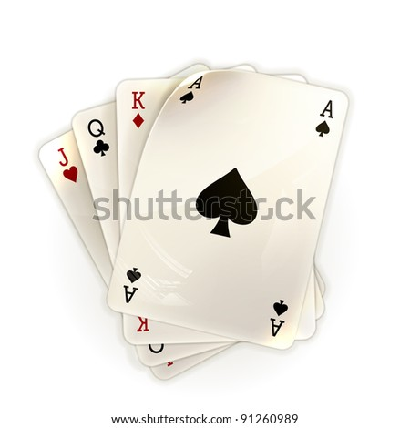 Playing Cards, 10eps - stock vector