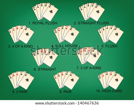 Playing cards - heart suit highly detailed vector illustration. EPS 10 - stock vector