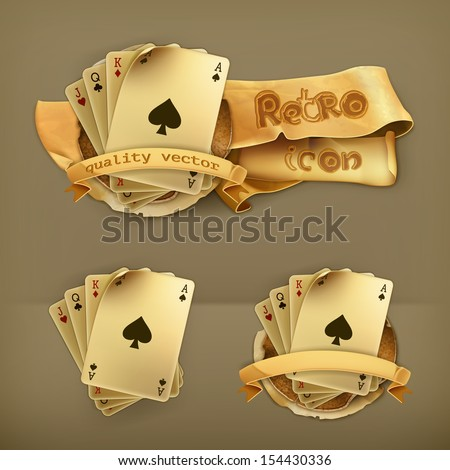 Playing Cards, icon - stock vector