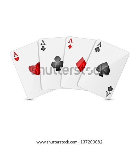 playing cards on a white background - stock vector