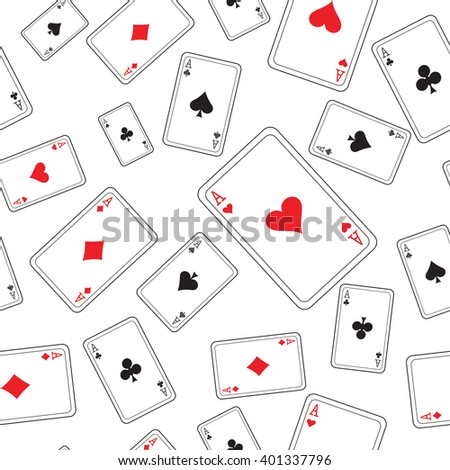 playing cards pattern