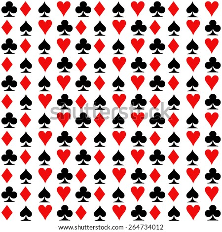 playing cards, suit. seamless background - stock vector