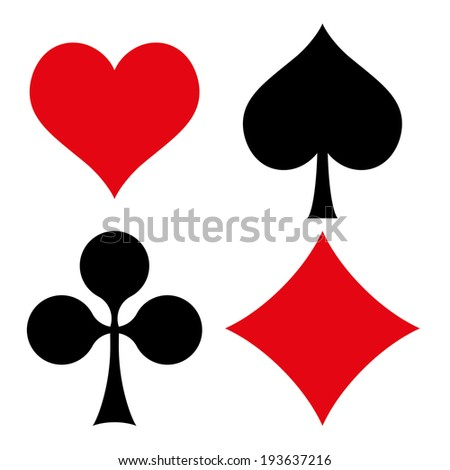 Playing cards symbols - stock vector