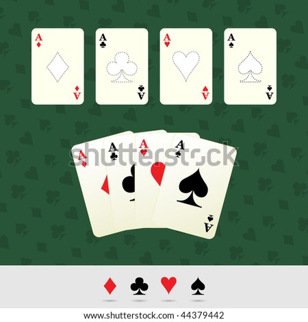 Playing Cards. Vector Game Objects Illustration. - stock vector