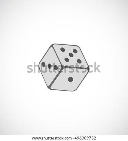 playing dice icon for web