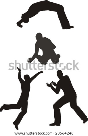 playing men - stock vector