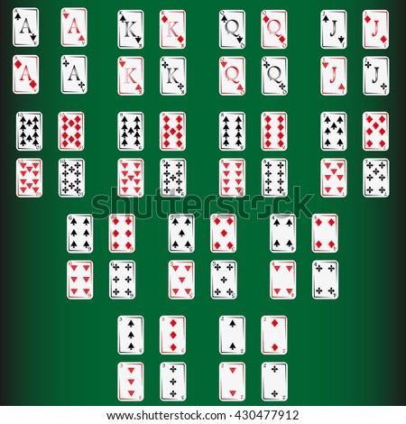 Playing poker cards - stock vector