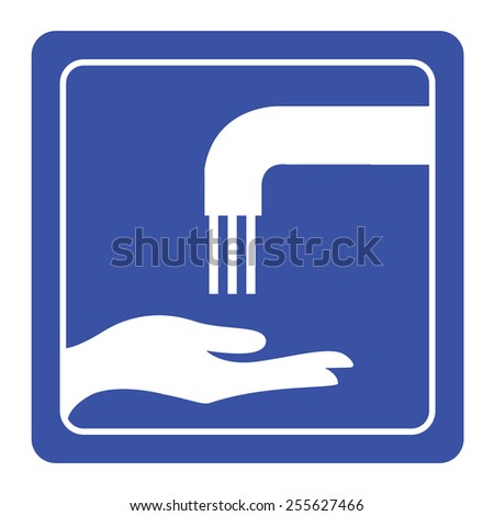 Please wash your hands sign - stock vector