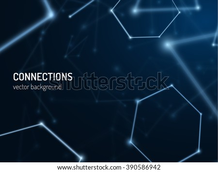 Plexus connections background. Vector eps10. Can be used as communications or technology, science concepts.  - stock vector