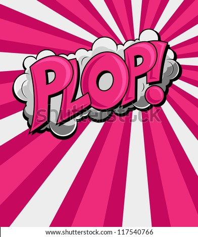 Plop - Comic Expression Vector Text - stock vector