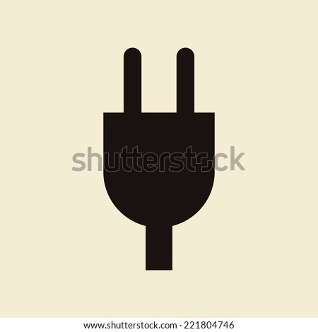 Plug icon on light background - stock vector