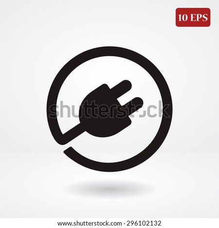 plug in vector icon 10 EPS - stock vector