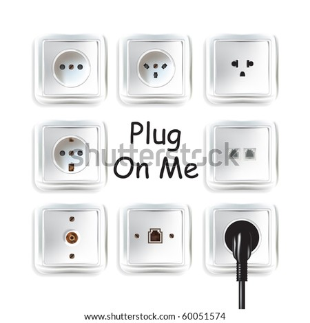 plug on me - stock vector