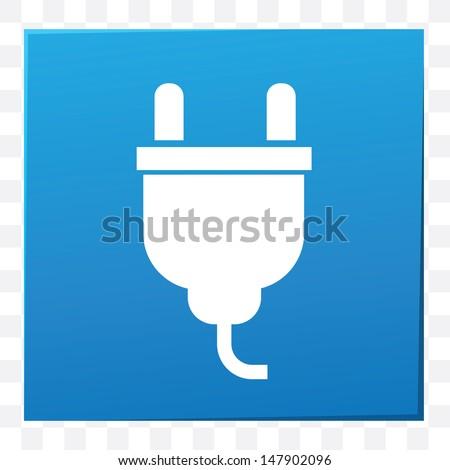 Plug symbol,vector - stock vector