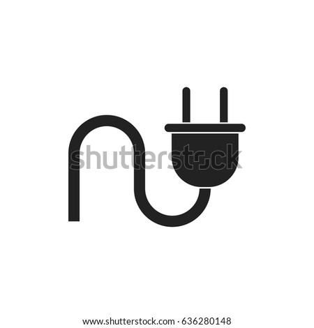 Plug Vector Icon Power Wire Cable Stock Vector 636280148 - Shutterstock
