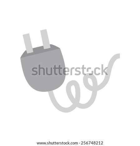 plug wire vector - stock vector