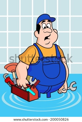 Funny Plumber Stock Images Royalty Free Images Amp Vectors