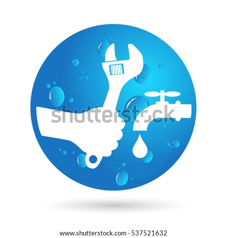 Plumbing service for business, design for vector