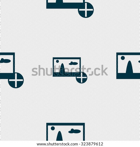 Plus, add File JPG sign icon. Download image file symbol. Seamless abstract background with geometric shapes. Vector illustration - stock vector