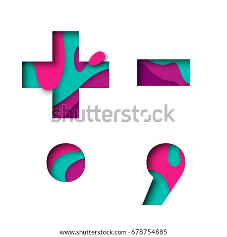 Plus Minus Symbol Dot Comma Punctuation Stock Vector Royalty Free