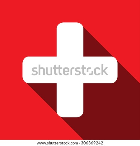 Plus icon from Primitive Set. - stock vector