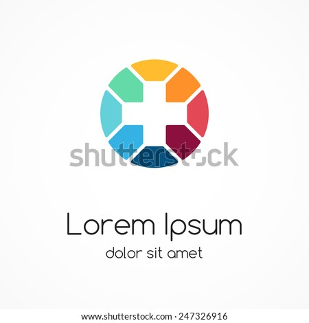 Plus sign logo template. Medical healthcare hospital symbol. Abstract concept of hospital or medicine doctor. - stock vector