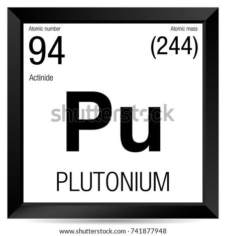 Plutonium Symbol Element Number 94 Periodic Stock Vector 741877948