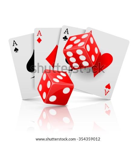 Pocker casino gambling,Casino design concept, vector - stock vector