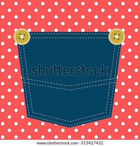 pocket - stock vector