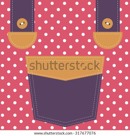 pocket and suspenders - stock vector