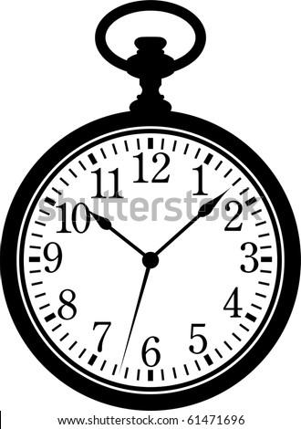 Pocket Watch - stock vector