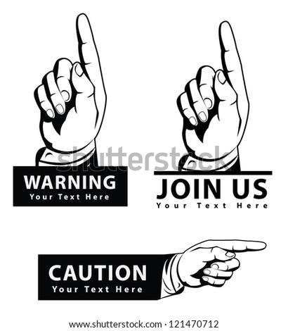 point hand set - stock vector